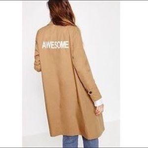 "ZARA ""AWESOME"" Tan Trench Coat"